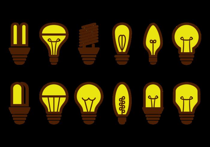 Ampoule Icons Vector
