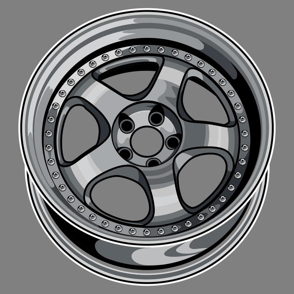 bilhjul ritning vektor