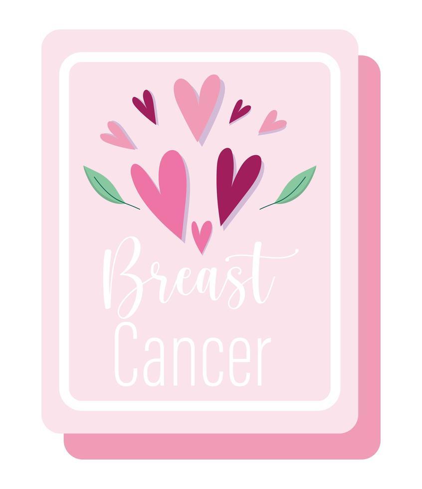 bröstcancermedvetenhetsmånad motiverande rosa affisch vektor