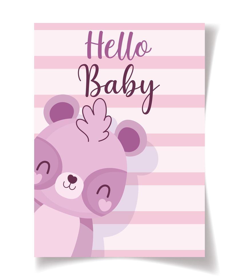 baby shower tvättbjörn hej baby firande vektor