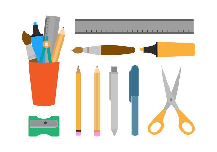 Gratis pennhållare och stationära vektorer