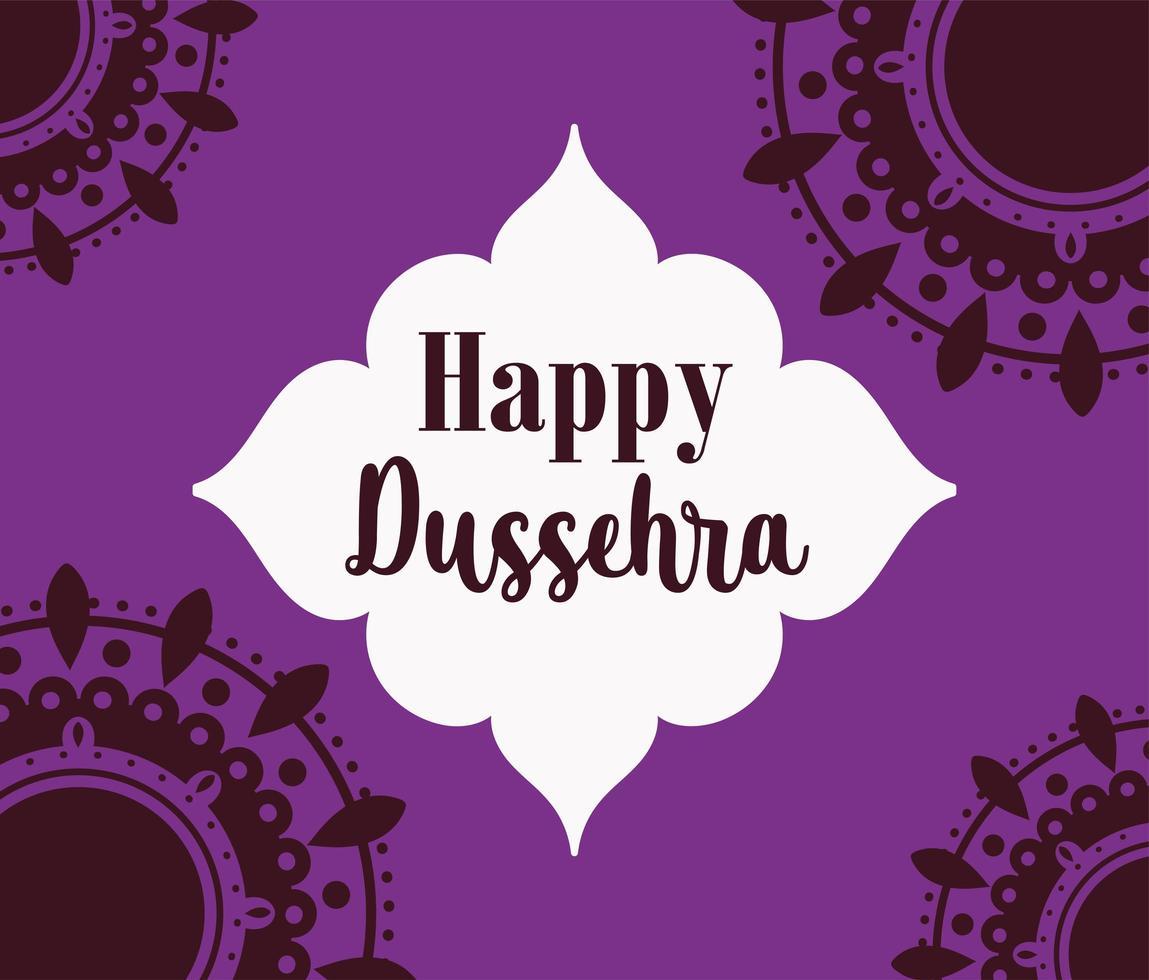 glad dussehra festival i Indien affisch vektor