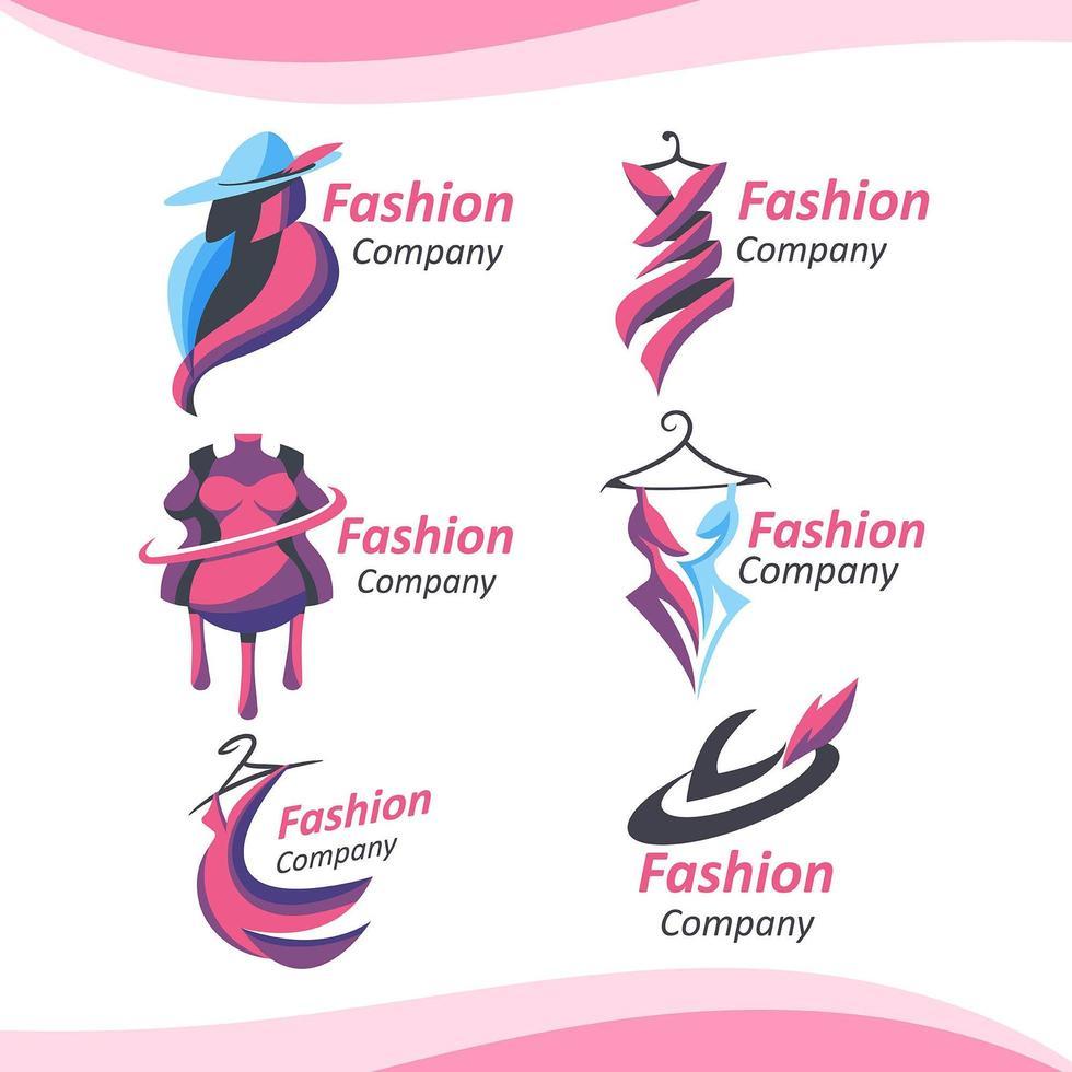 elegant mode företagslogotyp vektor