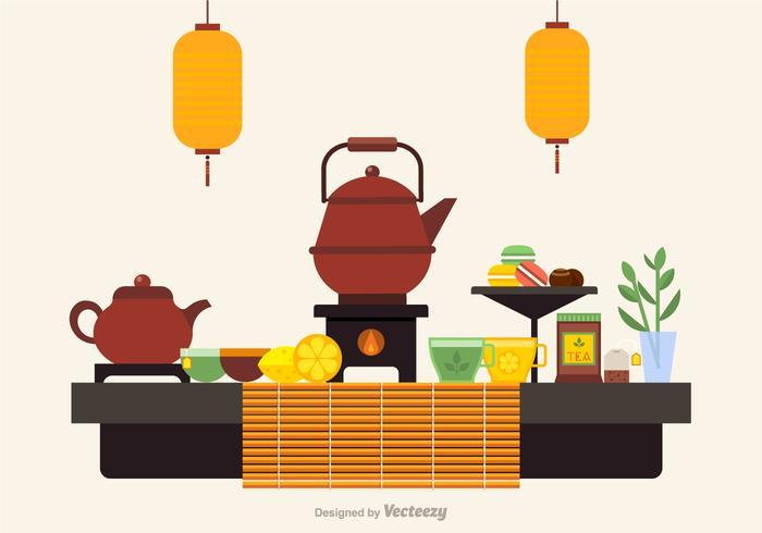 Gratis Tea Ceremony Ikoner Vector