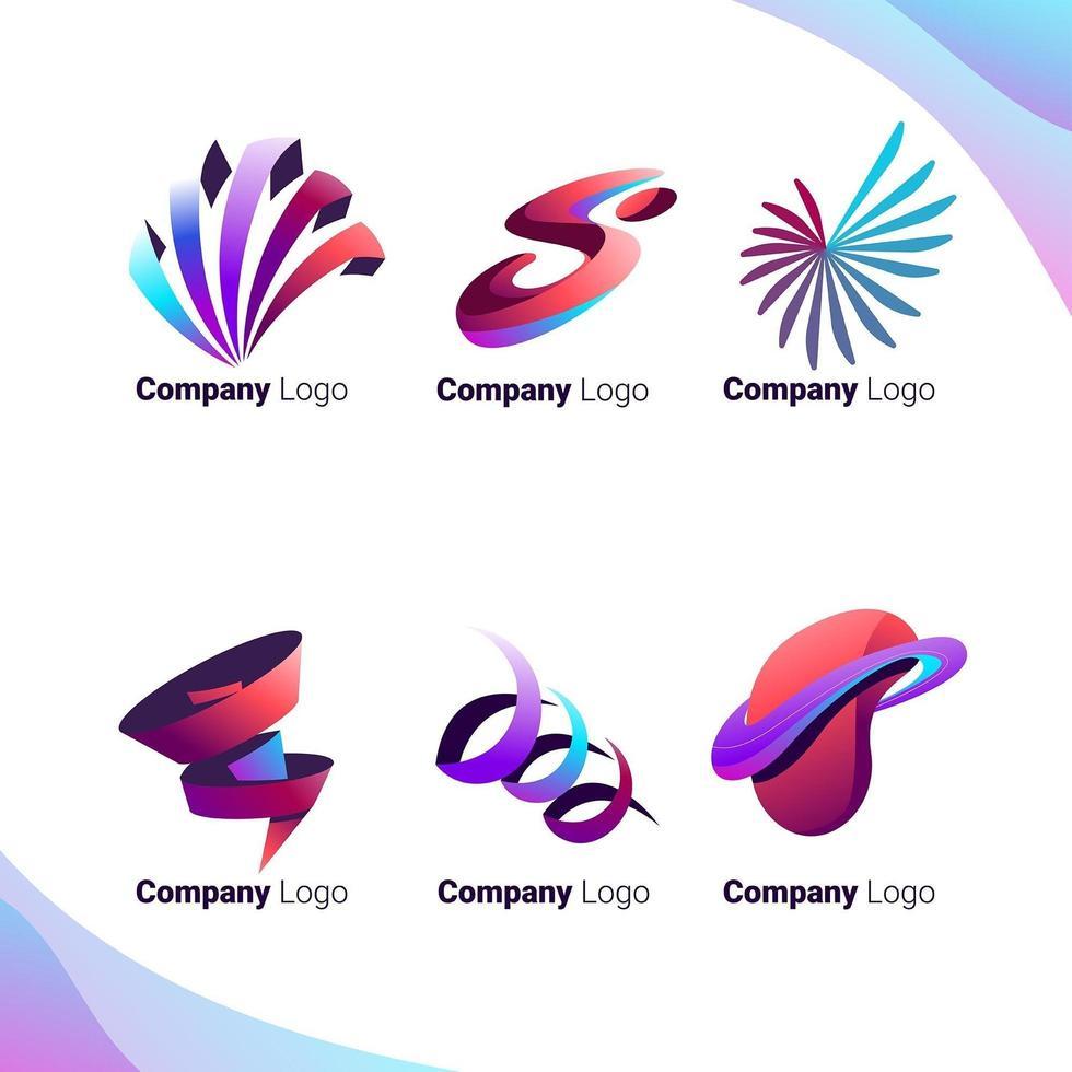 flexibel abstrakt företagslogotyp vektor