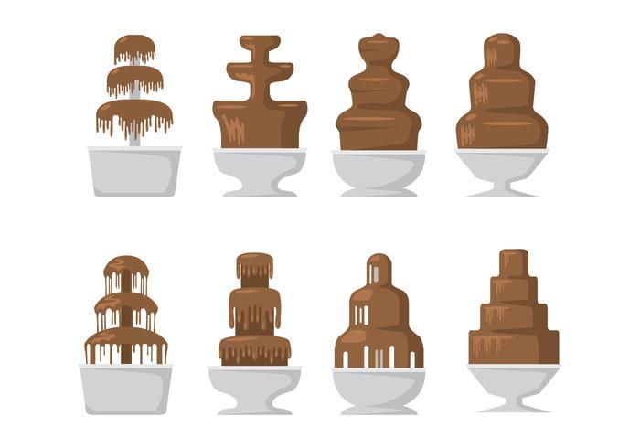 Choklad fontän Ikoner vektor