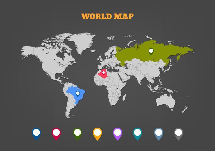 Gratis Vector Karta Legend med färgade markörer