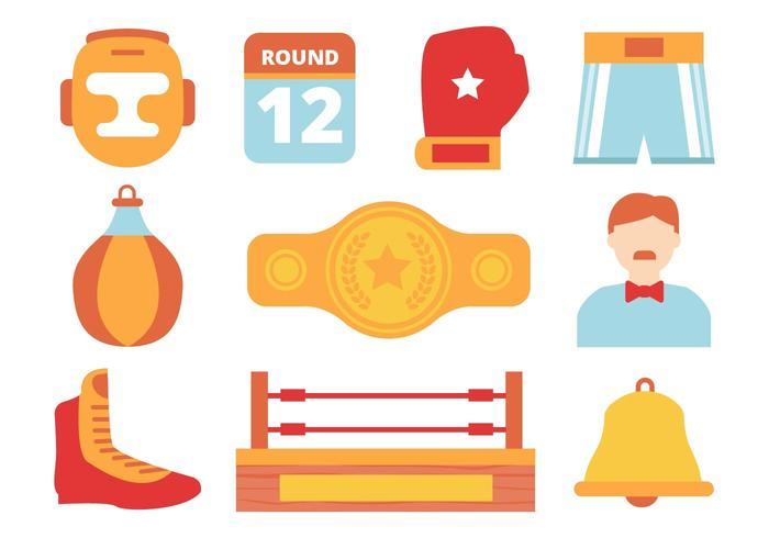 Gratis Boxing designelement Collection Vector