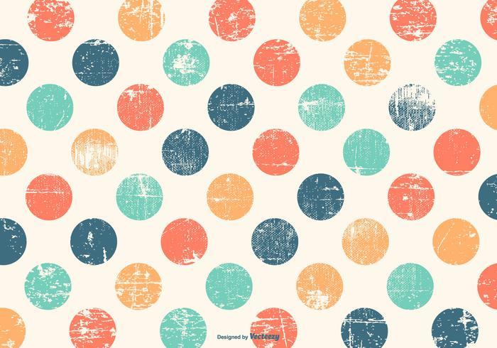 Söt Colorful Polka Dot grunge bakgrund vektor