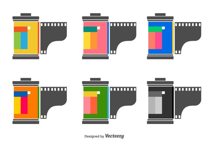 Filmbüchse Vektor-Icons vektor