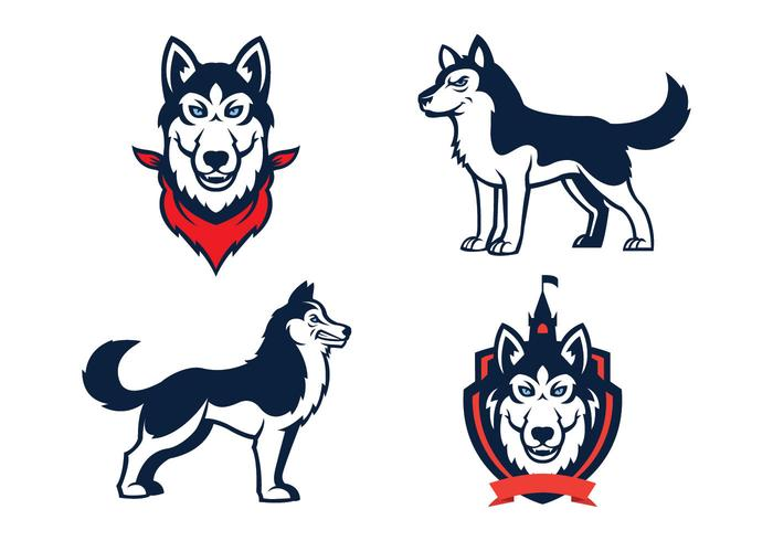 Fri Huskies Mascot vektor