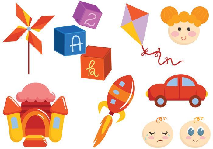 Freies Spielzeug und Kinder-Vektoren vektor