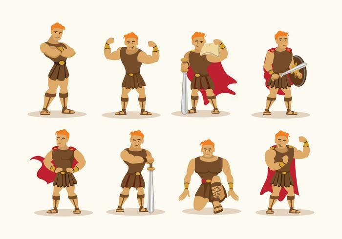 Hercules Character Vector