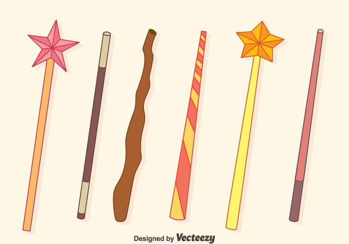 Magic Stick Sammlung Vektoren