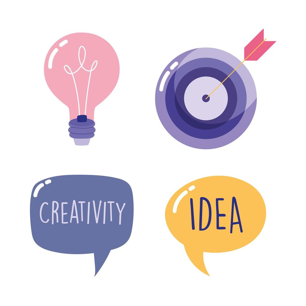 kreativitetsuppsättning vektor