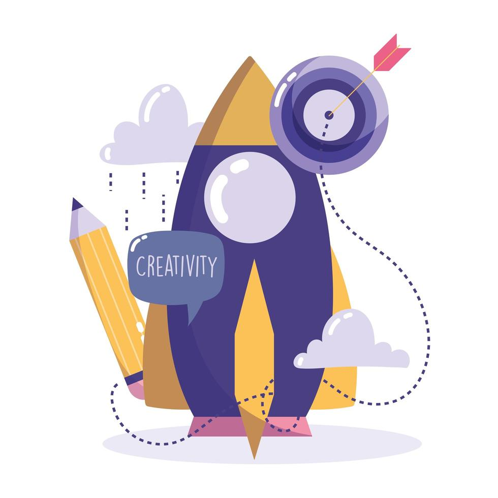 kreativitet och teknik koncept vektor