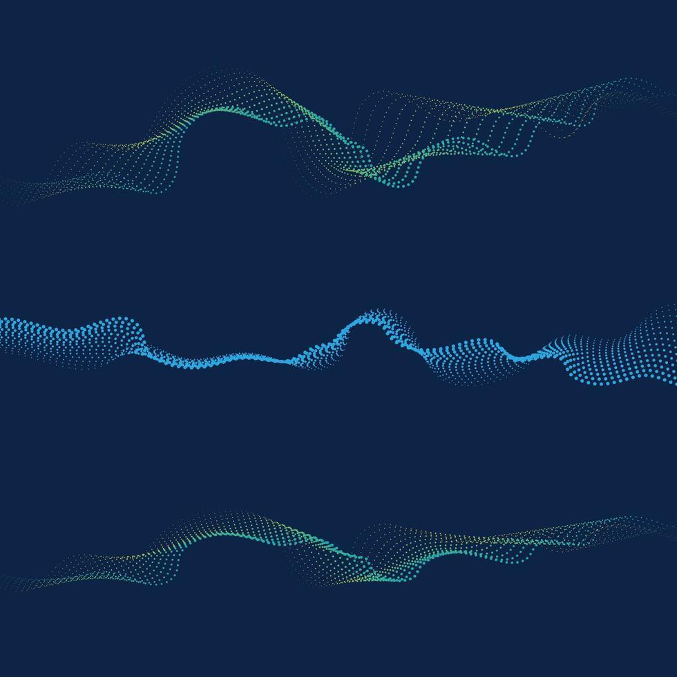 abstrakt digital våg av partiklar flöde vektor