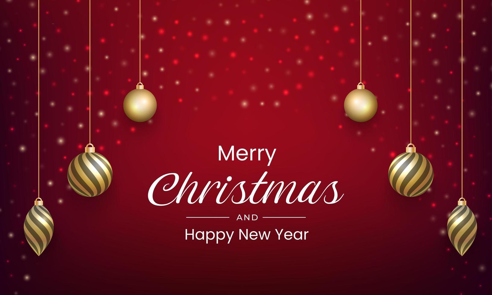 god jul och nyår tillbaka vektor