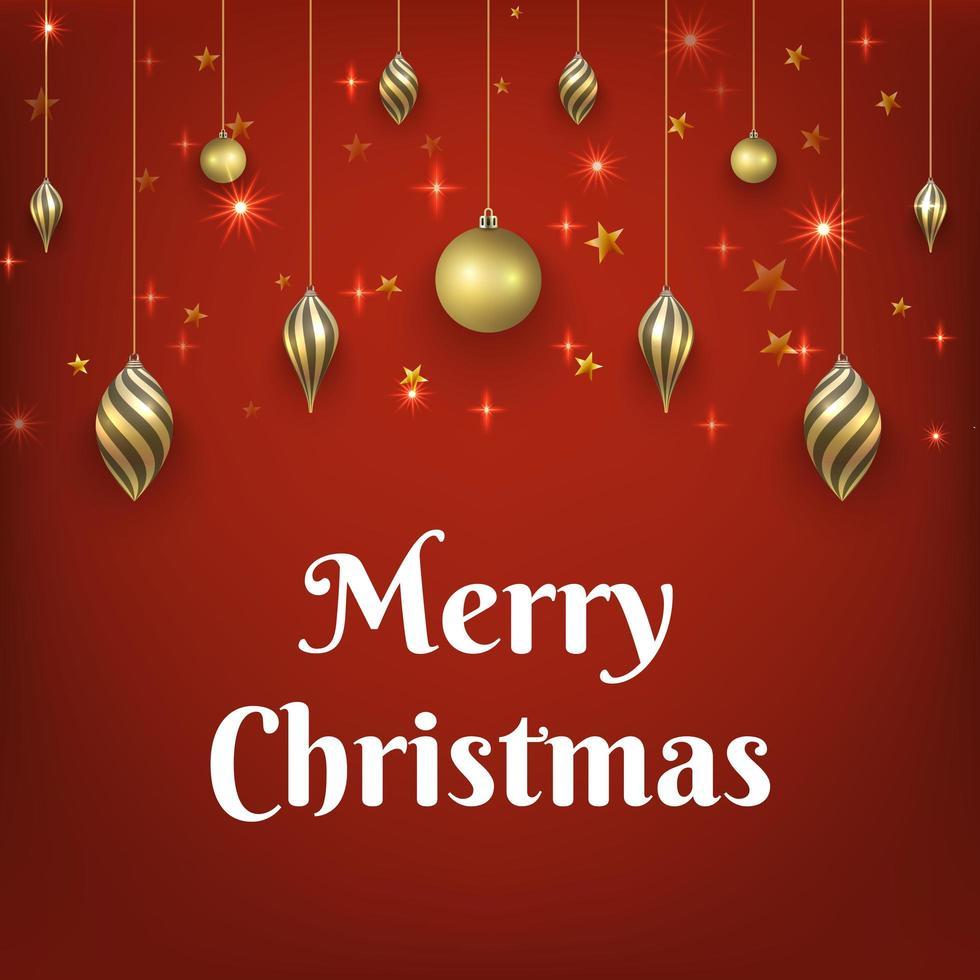 jul röd bakgrund vektor