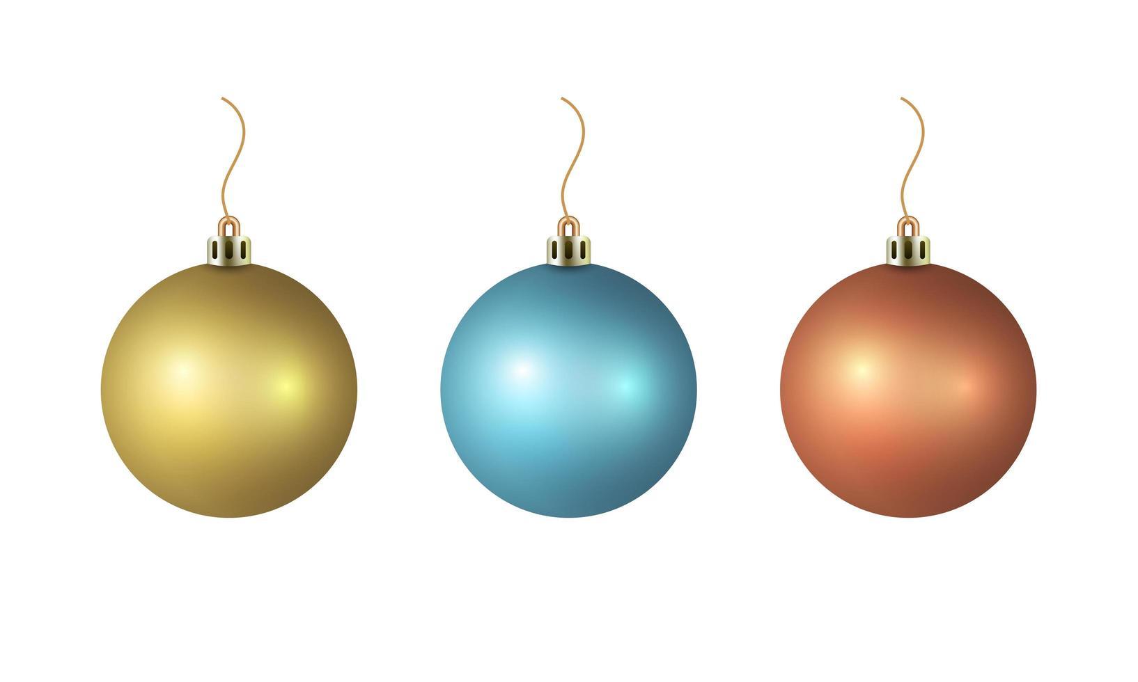 glänsande julgranskulor vektor