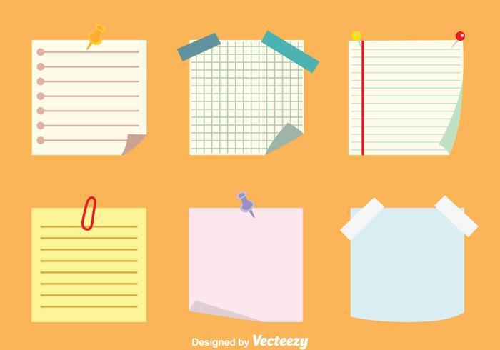 Sticky Notes Vektoren Set