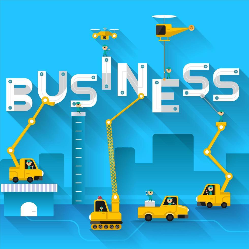 Engineering mit Business vektor