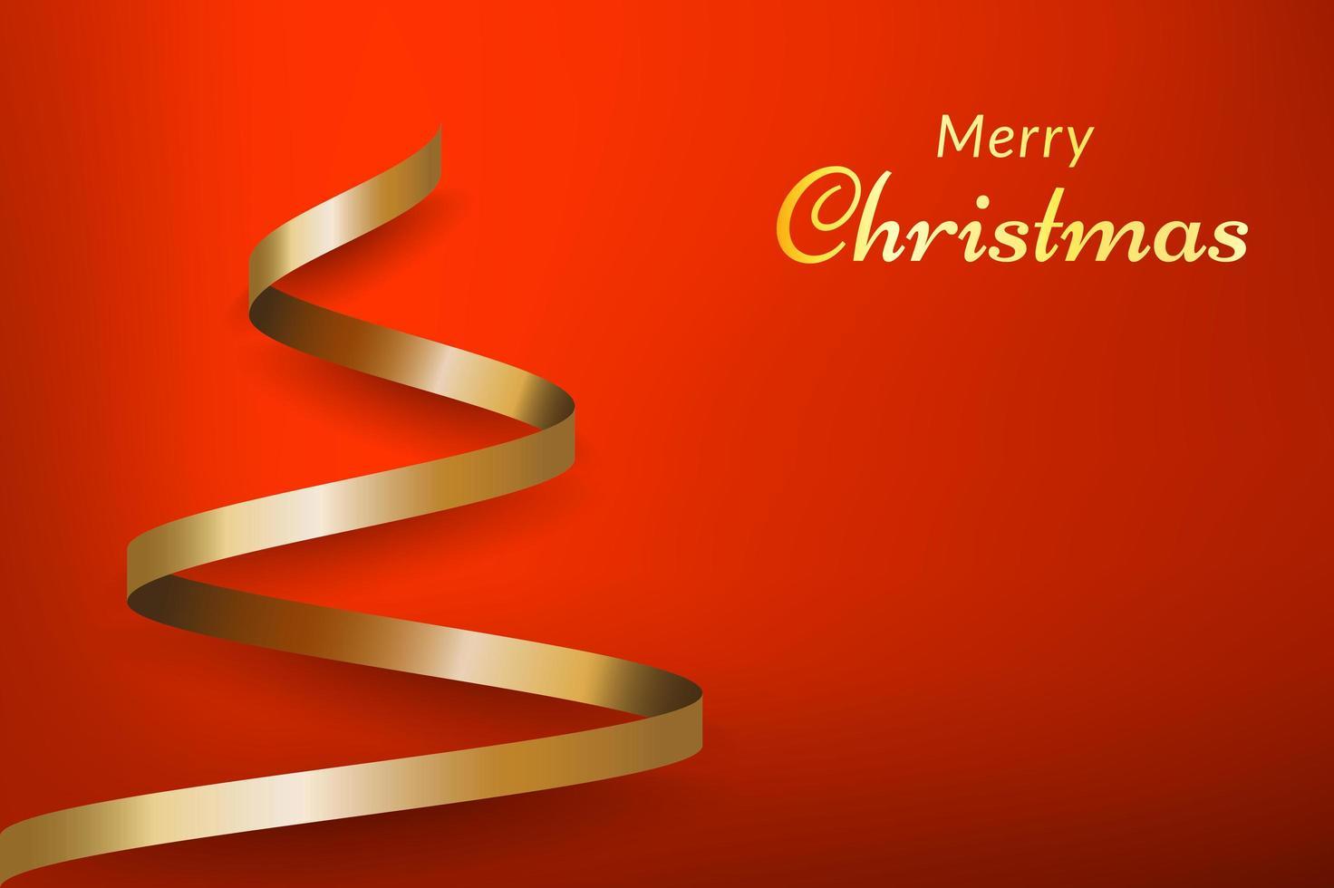 roter Weihnachtshintergrund mit Baum vektor