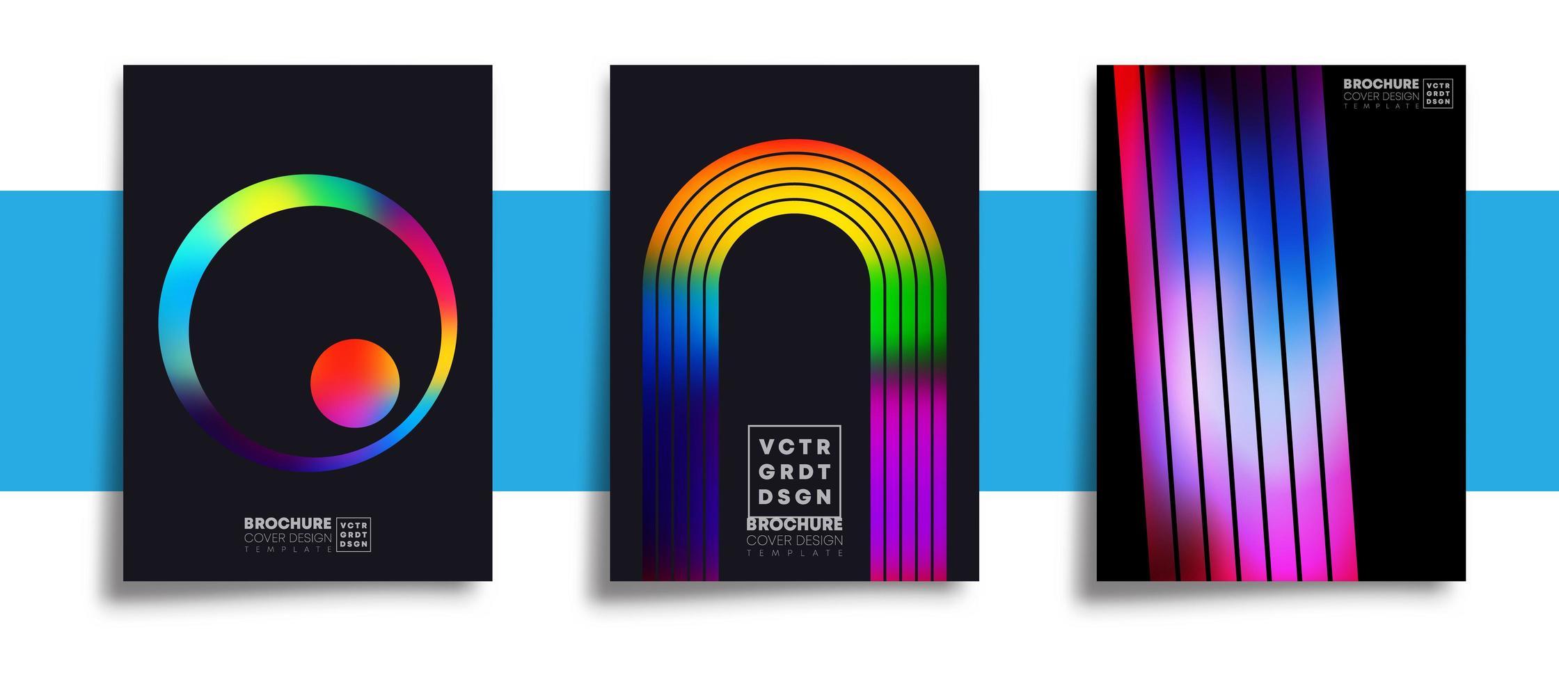 uppsättning abstrakta flerfärgade affischbakgrunder vektor