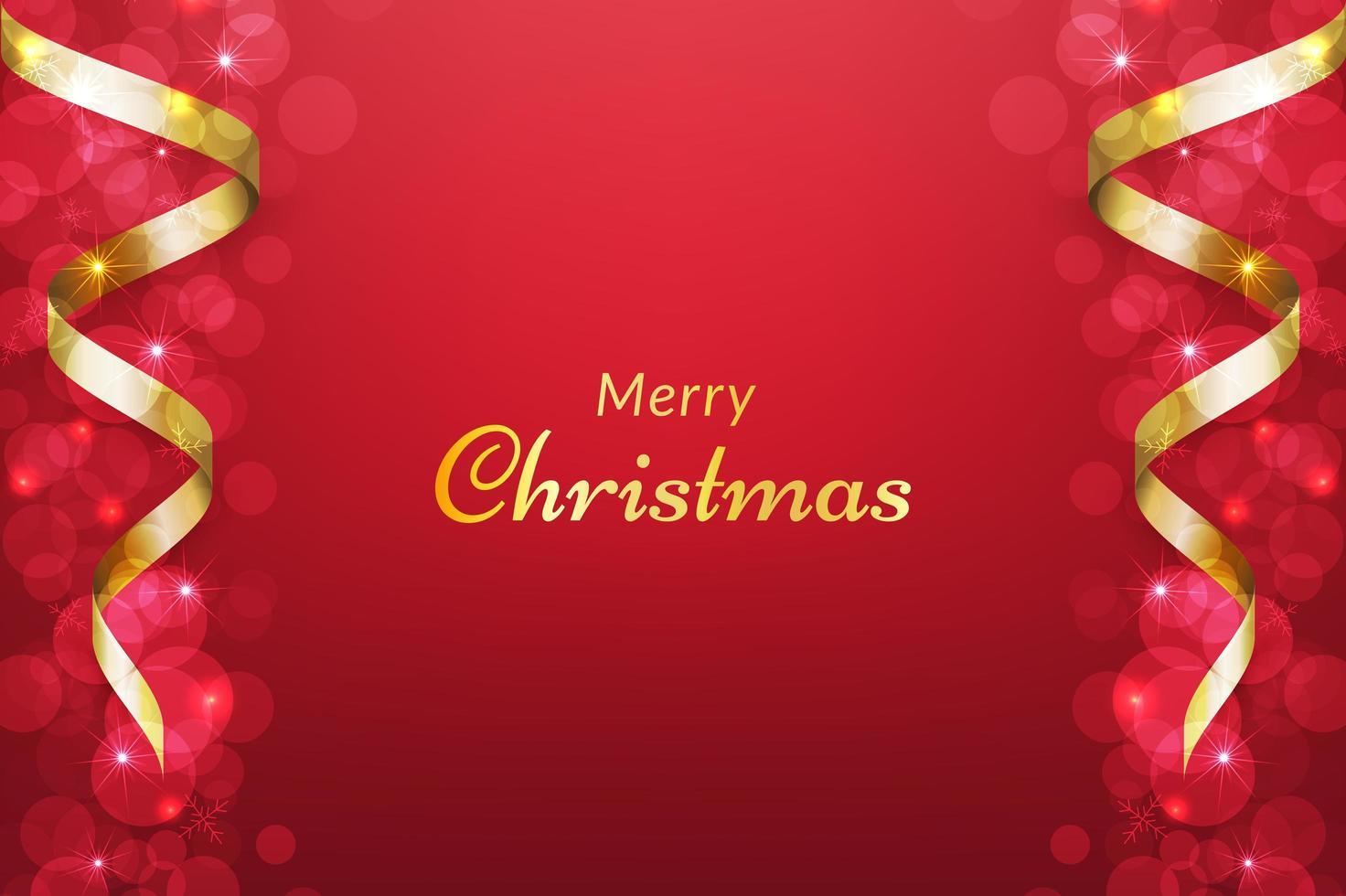röd jul bakgrund med band vektor
