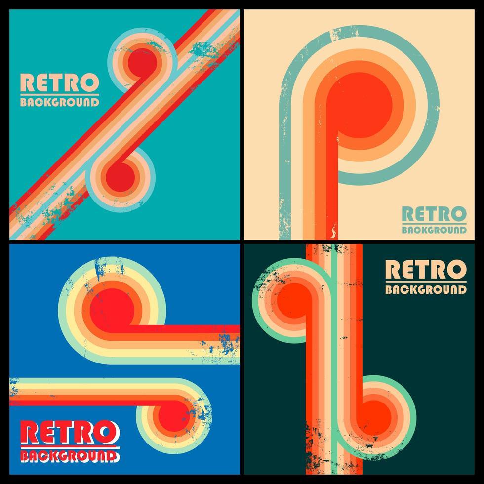 uppsättning vintage design bakgrunder vektor