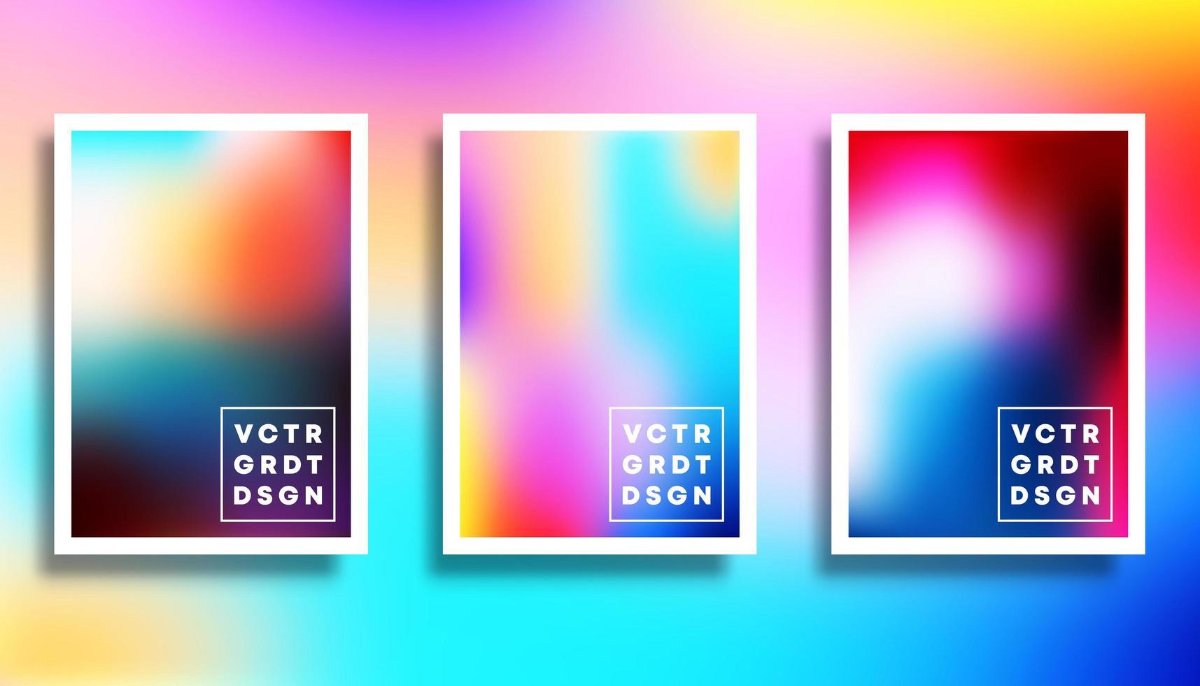 uppsättning färgglada bakgrundsoskärpa vektor