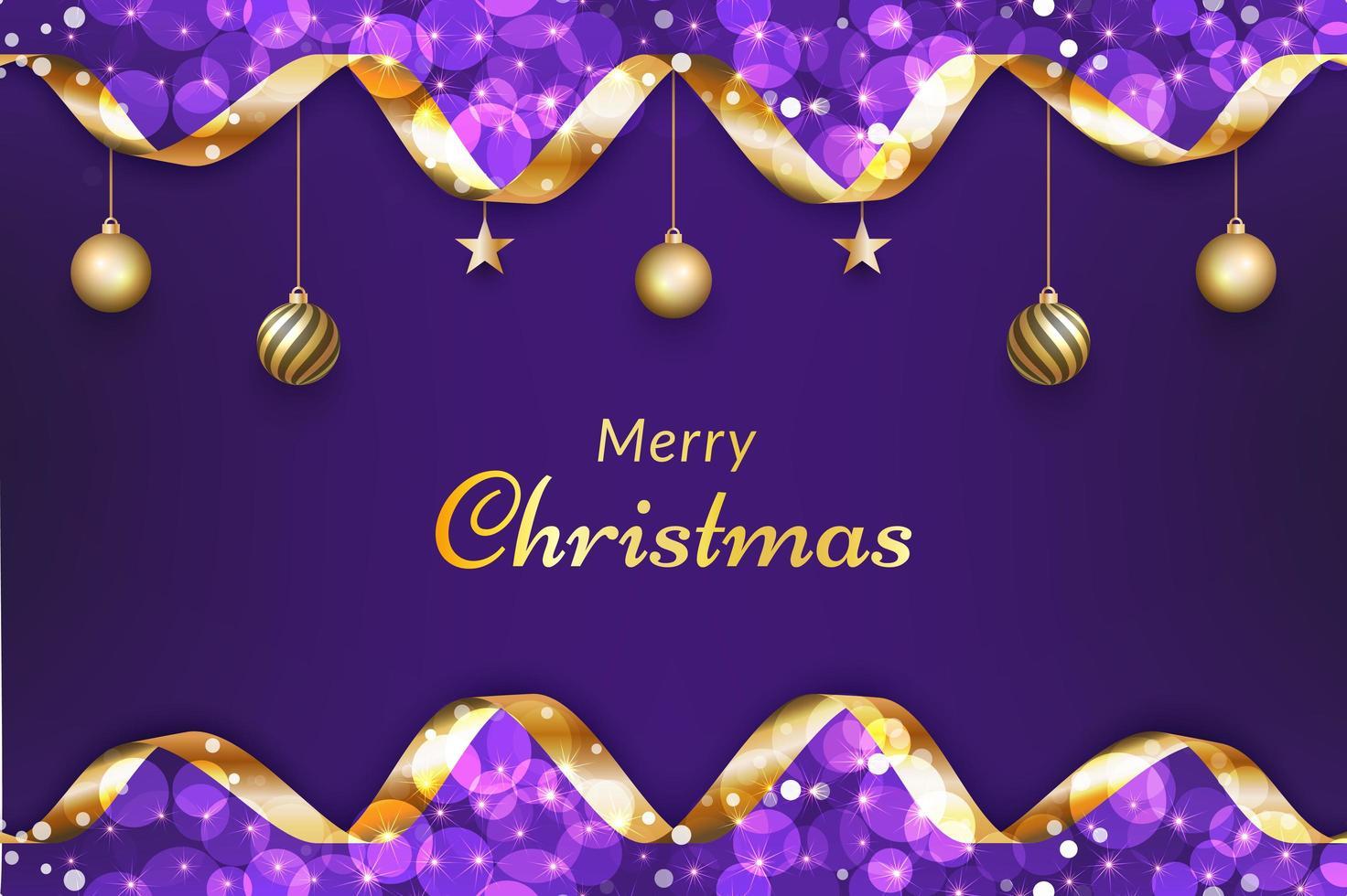 lila frohe Weihnachten Hintergrund vektor