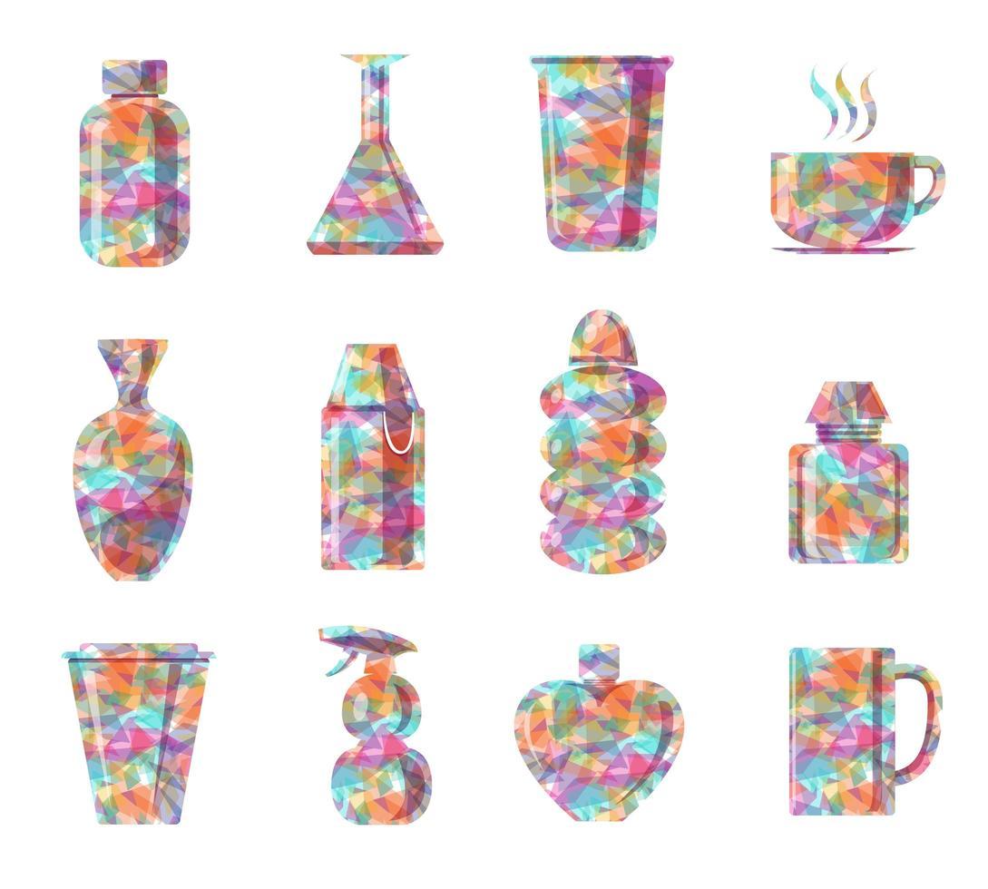 flaska färgglad diamantform vektor