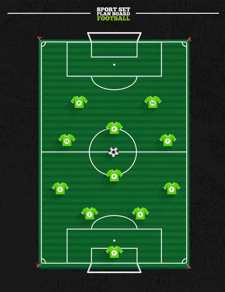 fotbollsstrategi vektor