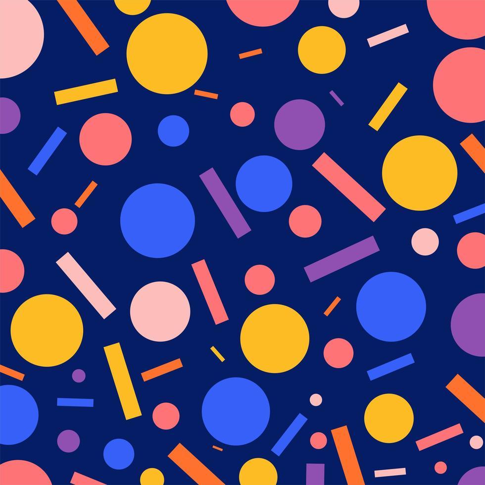 platt geometriska mönster bakgrund vektor