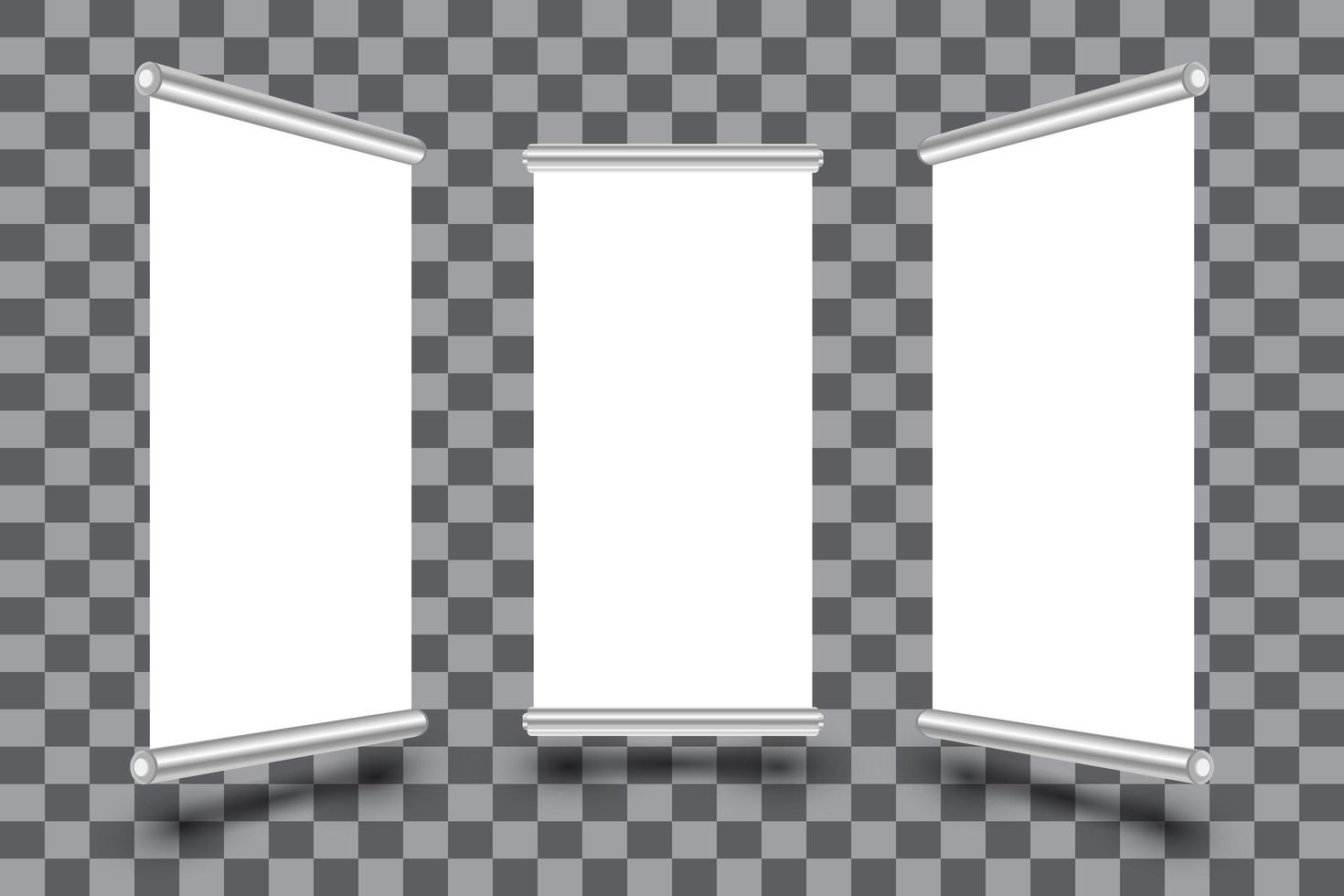 vertikala rulla upp banners ombord malluppsättning vektor