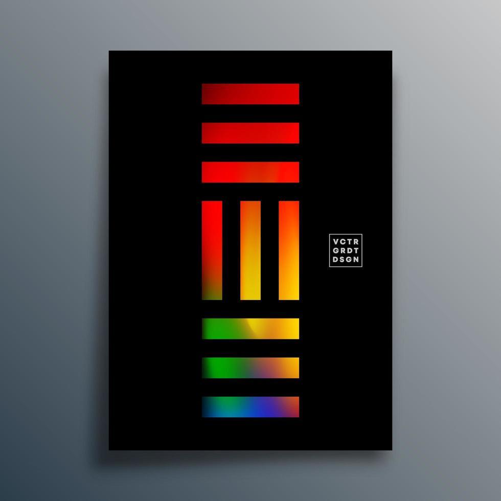 abstrakt geometrisk typografi med gradient färgglada linjer design vektor