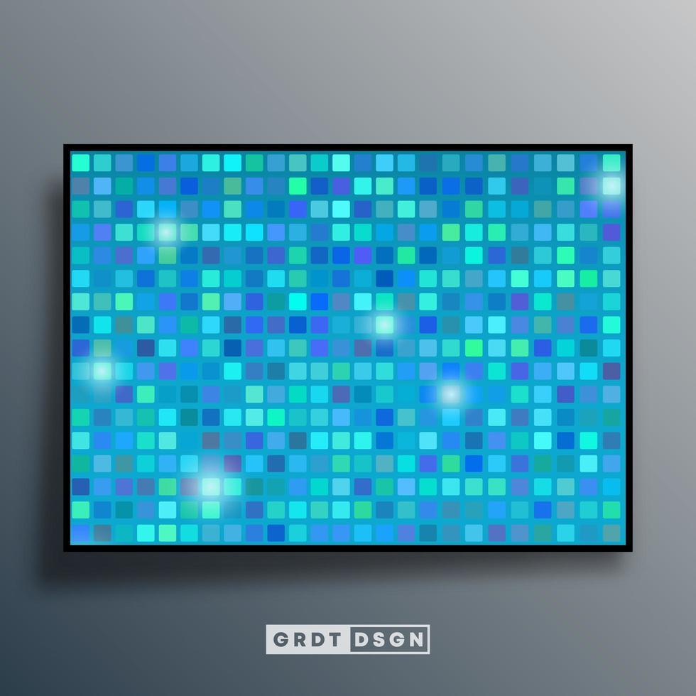 bakgrundsmall med mosaikgradientstruktur vektor