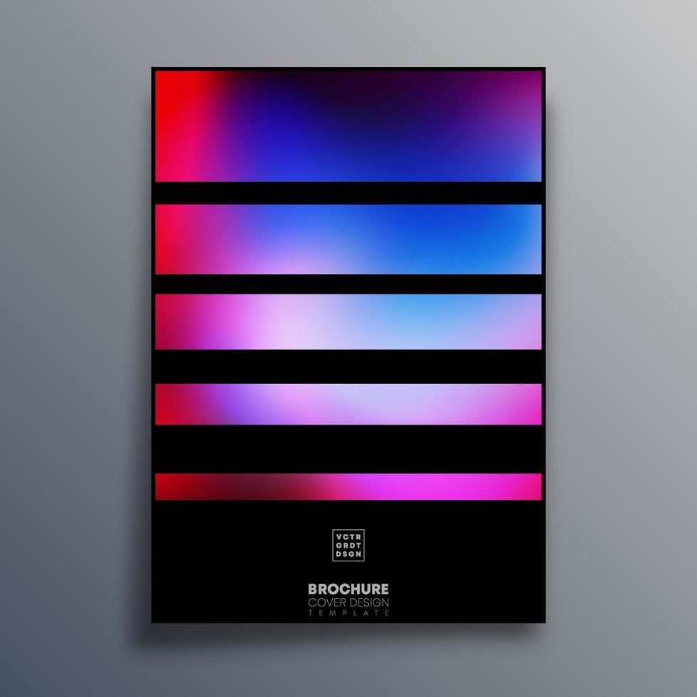 affisch med färgglada övertoningsmall vektor