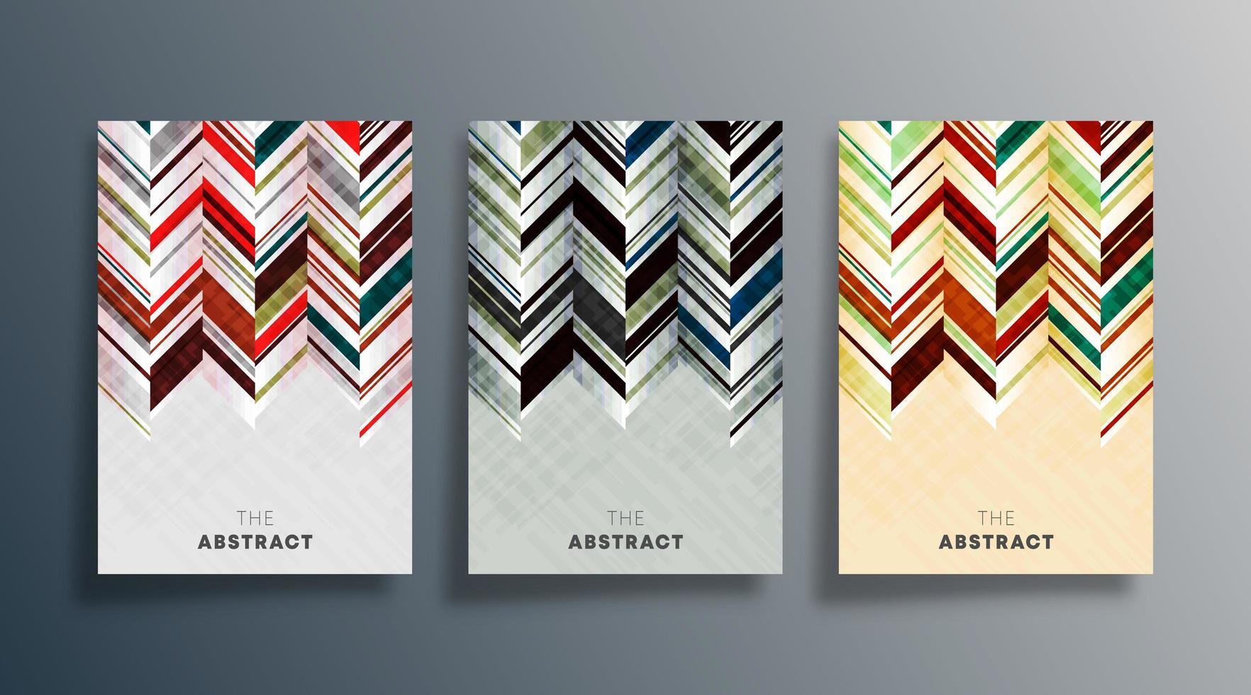uppsättning abstrakt design omslag vektor