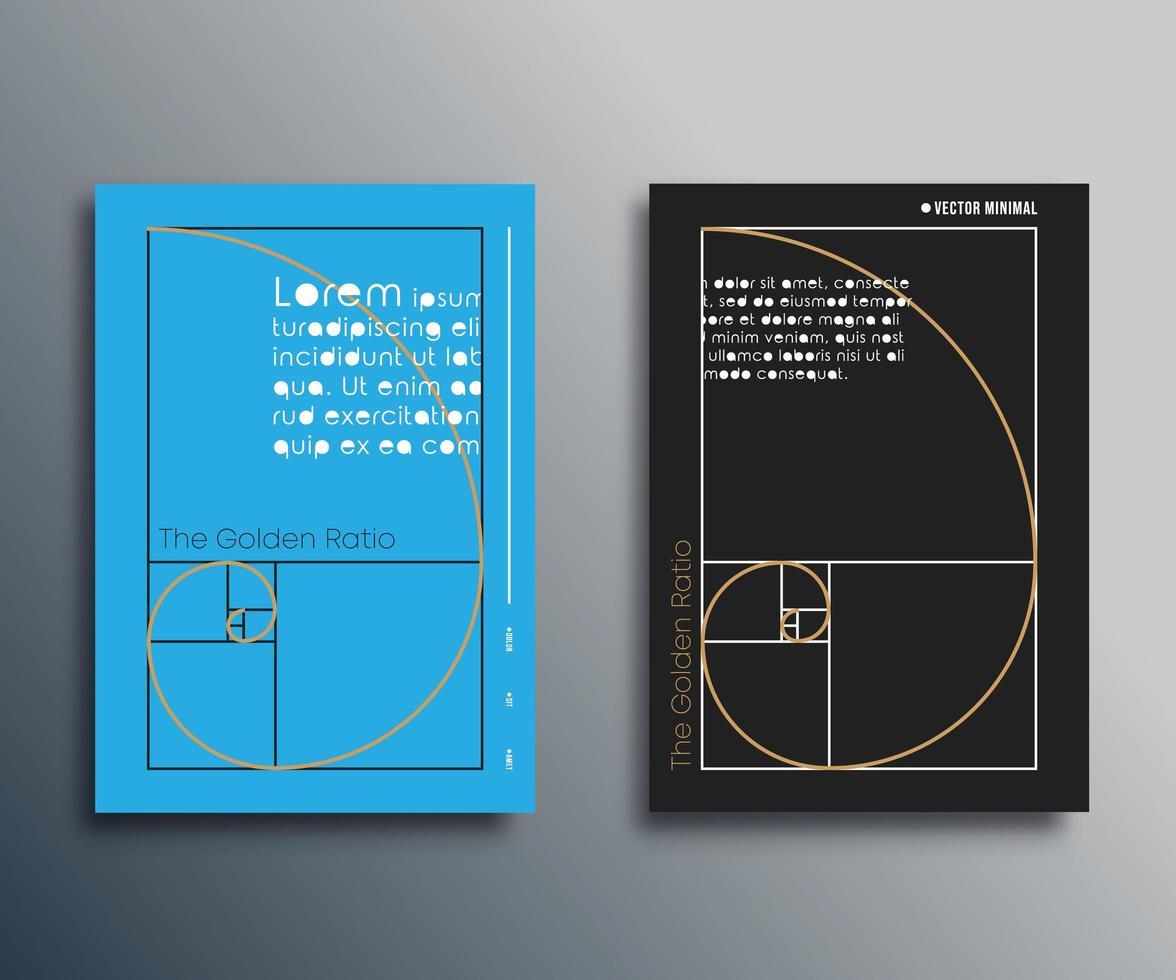 gyllene snittet. Fibonacci spiral design vektor