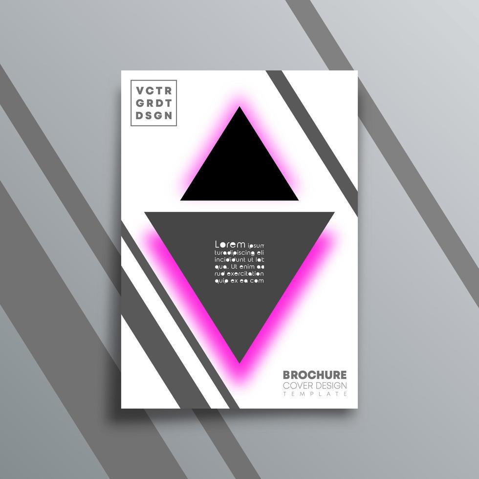 abstrakt bakgrund med triangelformdesign vektor