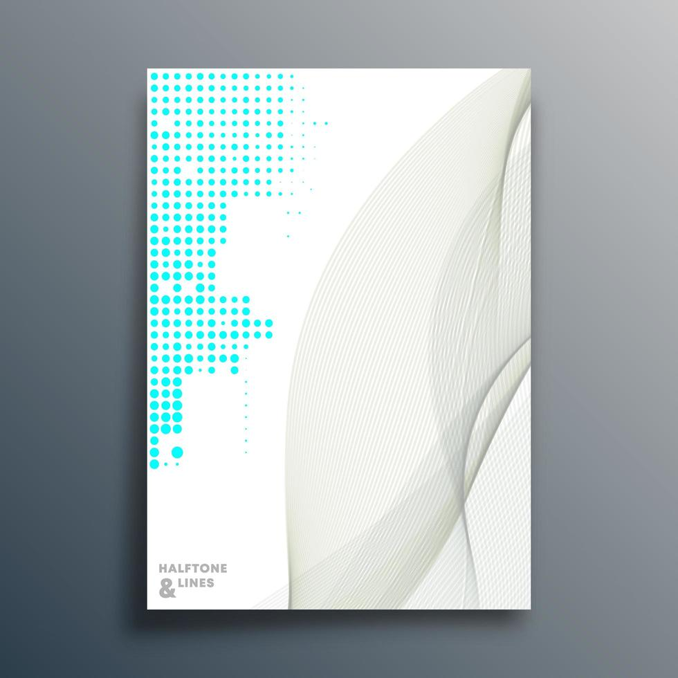Halbtonmuster-Entwurfsvorlage vektor
