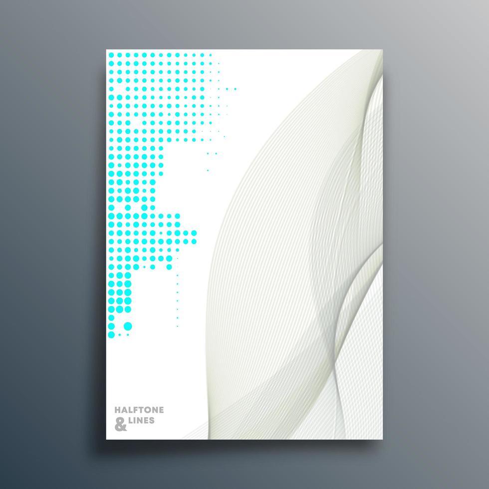 halvton mönster designmall vektor