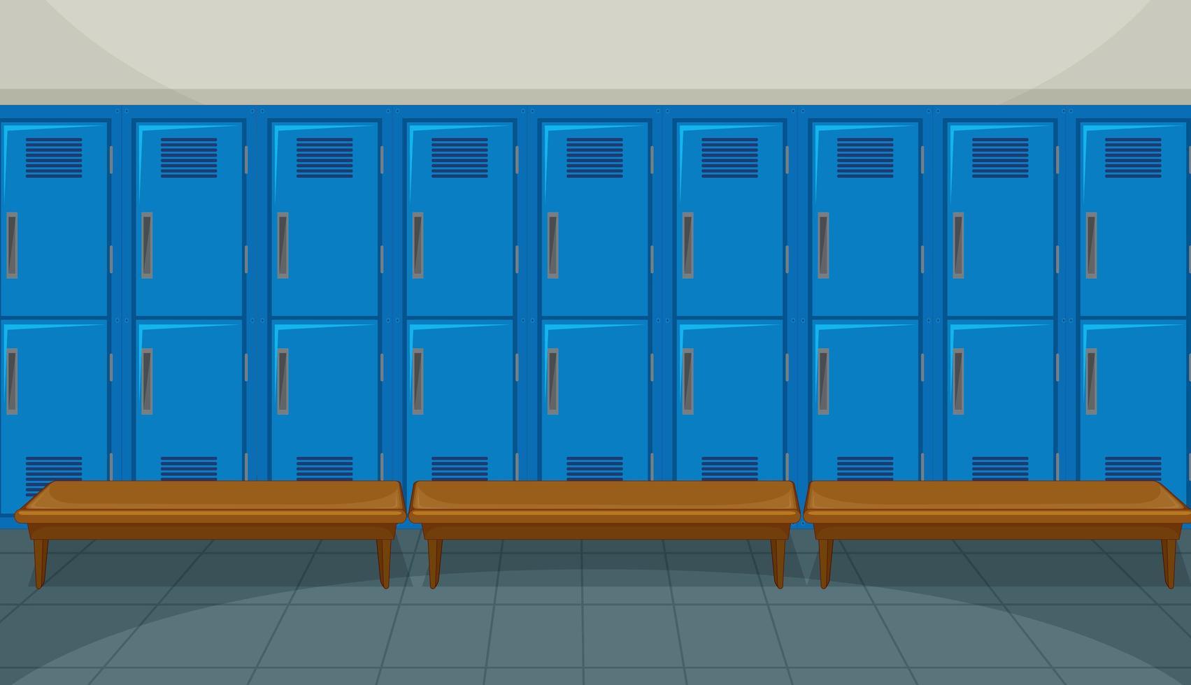 sport omklädningsrum med skåp bakgrund vektor