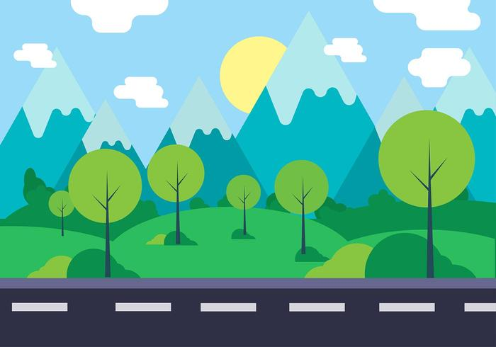 Gratis Vector Landskap Illustration