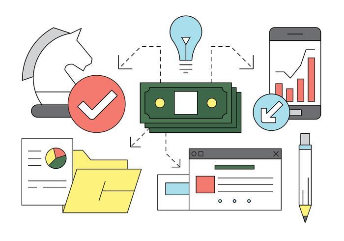 Kostenlose Set von Business und Finanzen Icons vektor