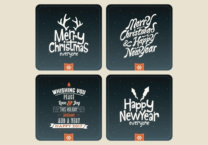 Natthimlen Holiday Card Collection Vector