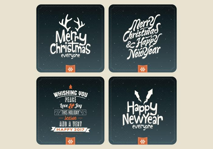 Night Sky Holiday Card Sammlung Vektor