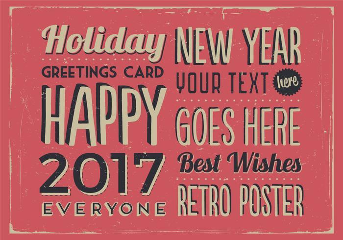 Jul och nyår Classic Holiday Vector